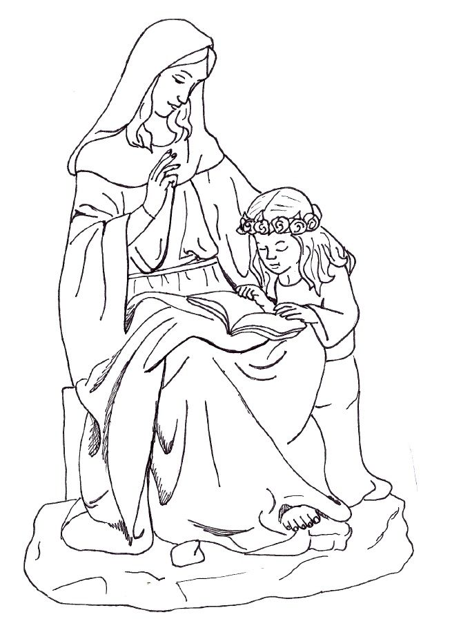 Coloring Pages Of Mother Mary