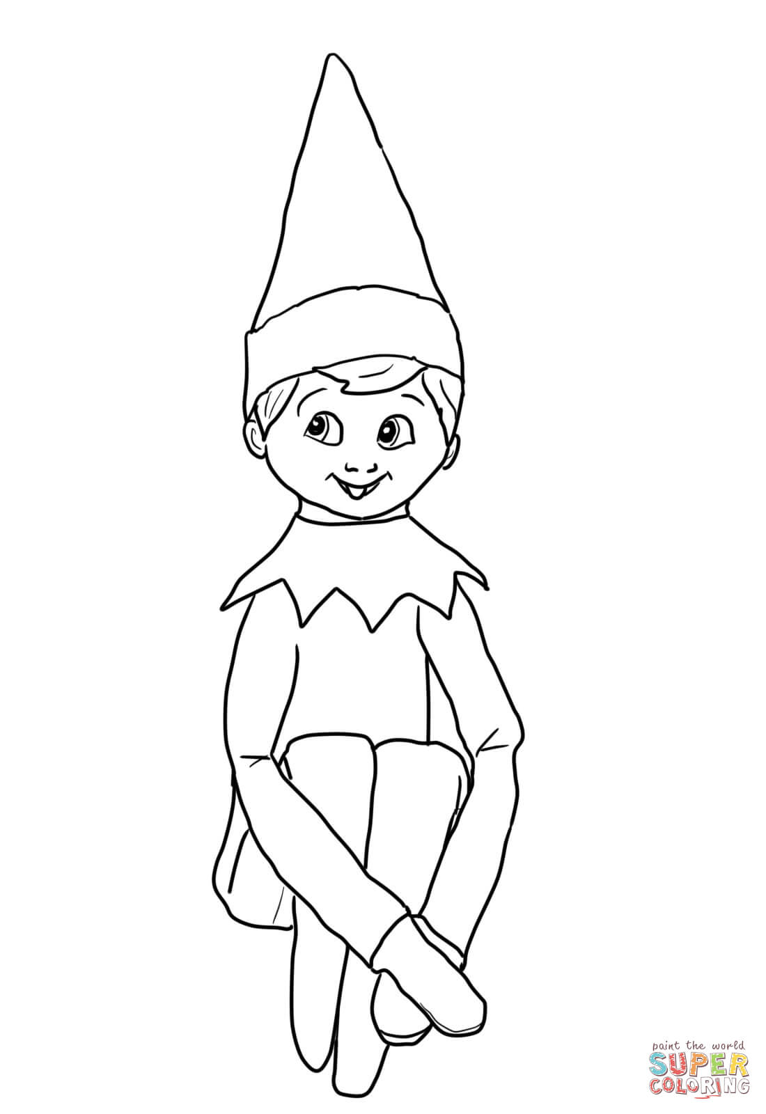elves coloring pages to printy - photo#22