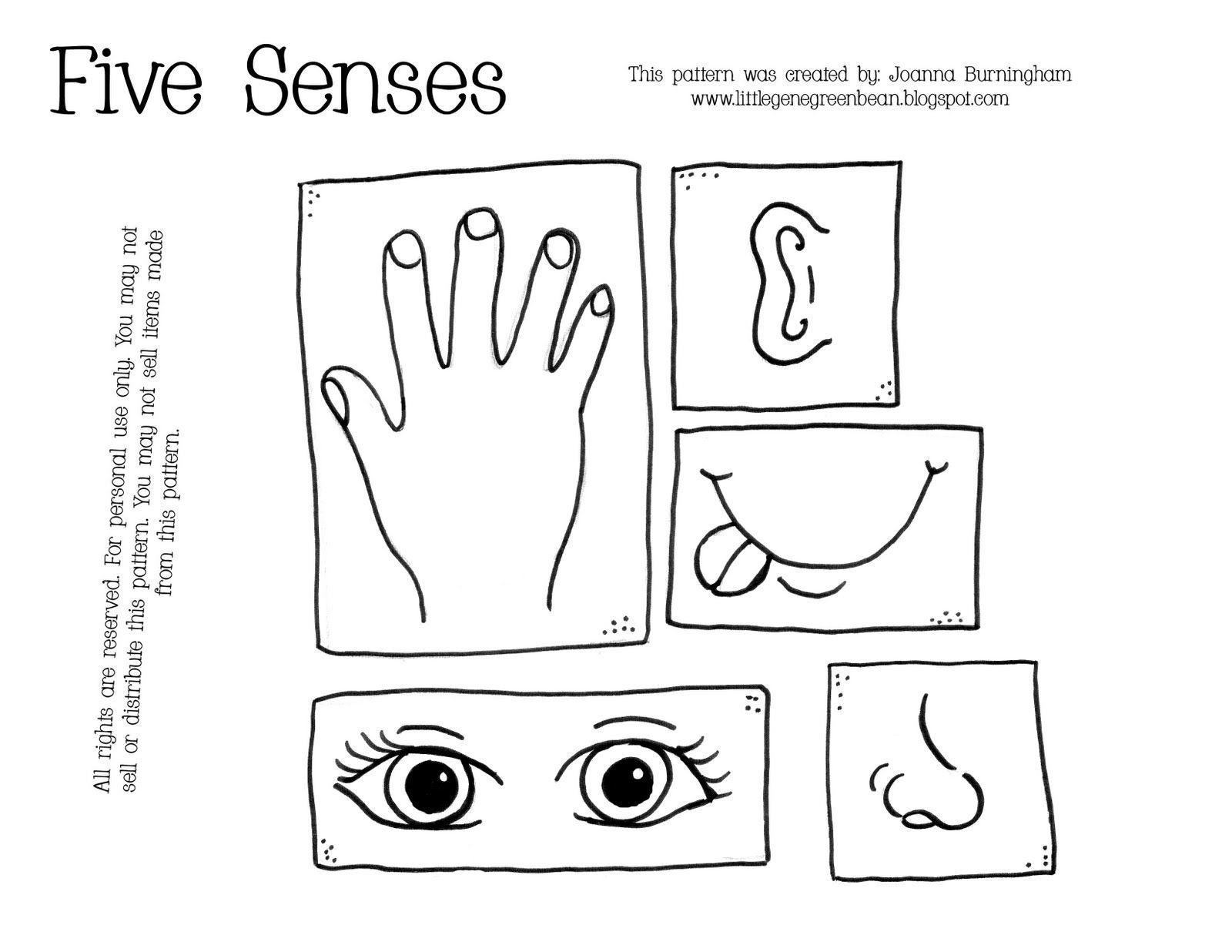 5 senses coloring page - five senses coloring pages preschool