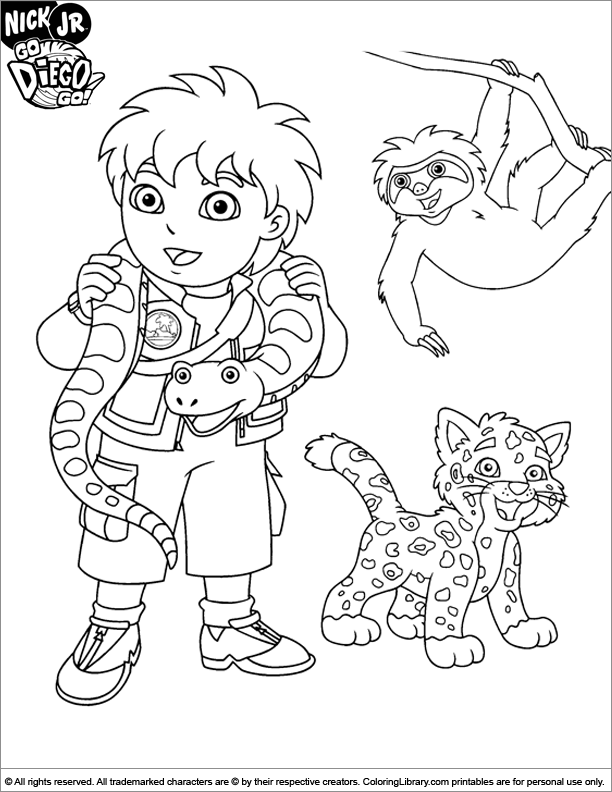 Go Diego Coloring Pages Printable - Coloring Home