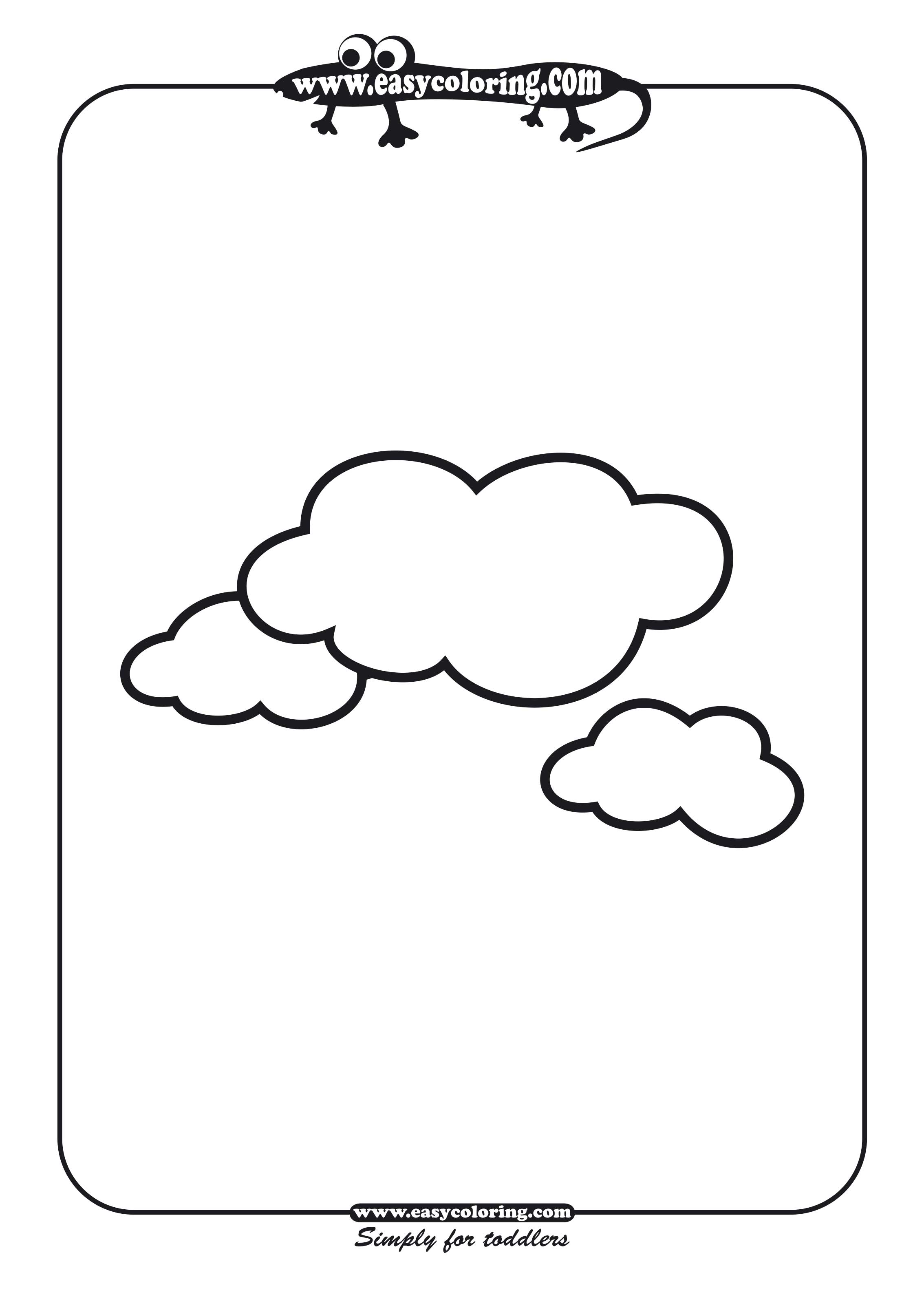 Clouds Coloring Pages For Kids