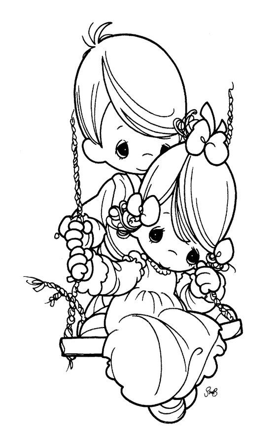 precious moments images clipart | Free precious Moments coloring ...