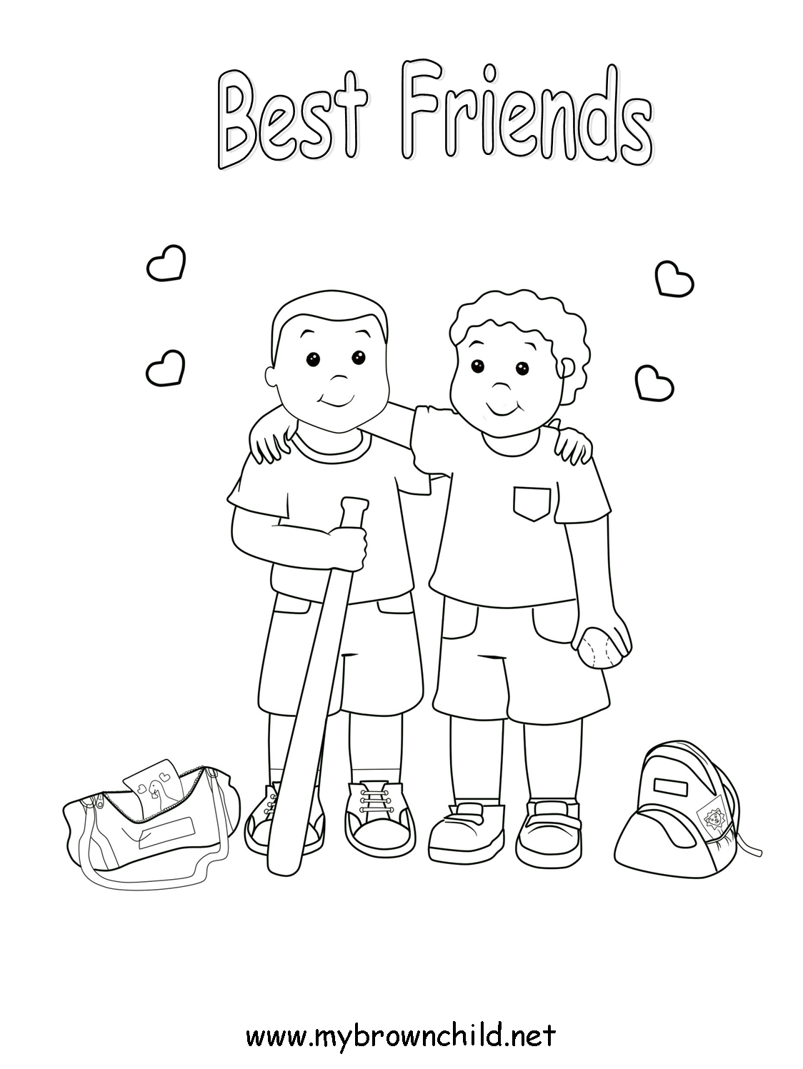 Coloring Pages For Friends - Coloring Home