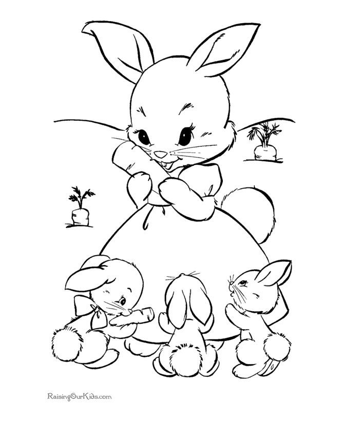 Adorable Rabbit Coloring Pages - Coloring Pages For All Ages
