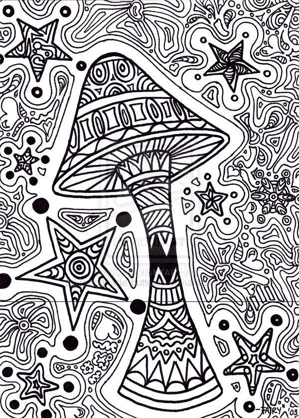 stoner trippy weed coloring pages - photo#32