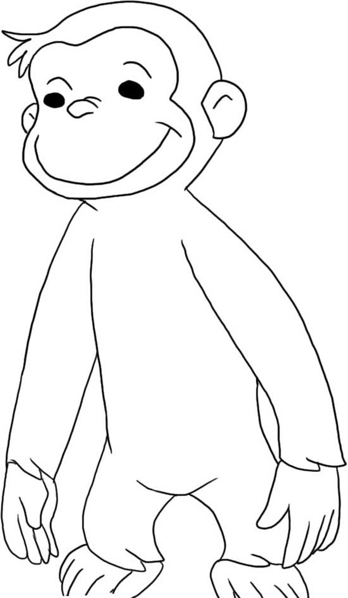 Curious George Coloring Pages To Print Coloring Home