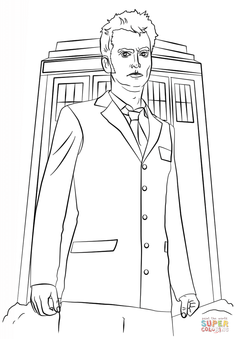 doctor who coloring page coloring pages for kids and for adults
