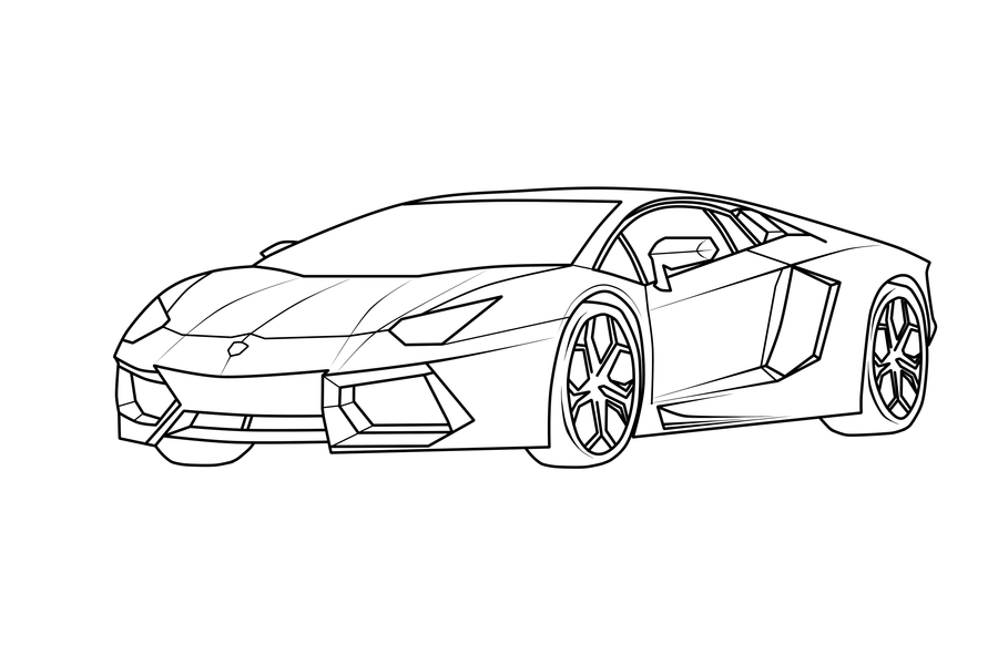 lamborghini coloring pages to print coloring home. Black Bedroom Furniture Sets. Home Design Ideas