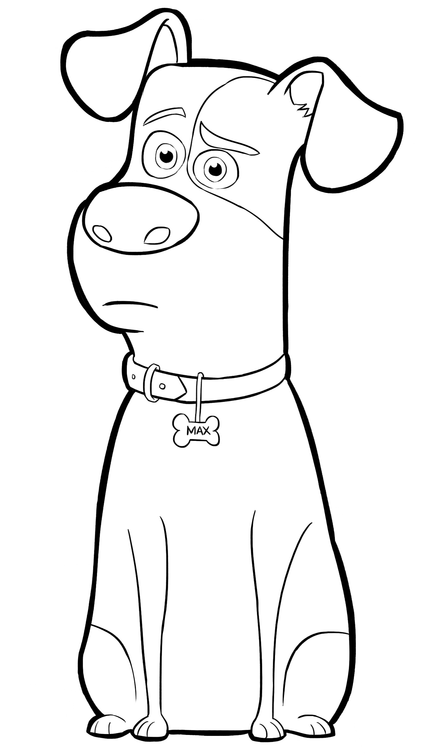 Max From The Secret Life Of Pets Coloring Page - Coloring Home