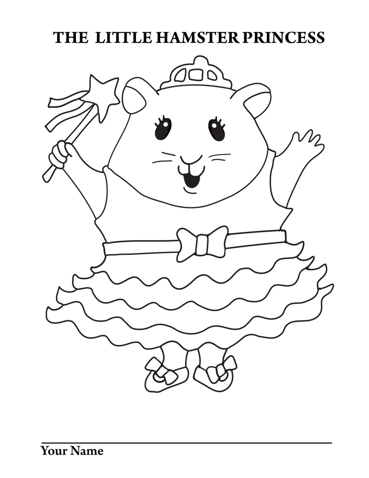 Cute Hamster Coloring Pages AZ