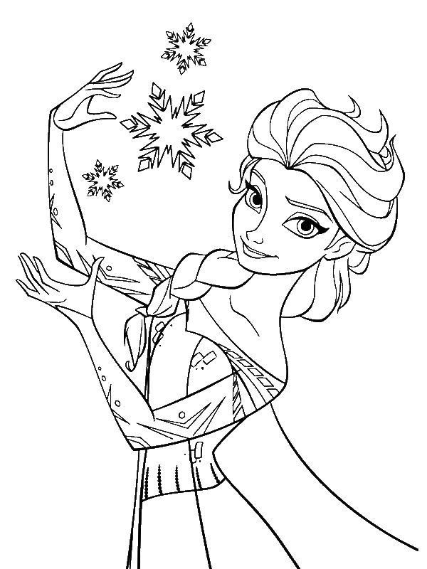 queen elsa coloring page | Only Coloring Pages