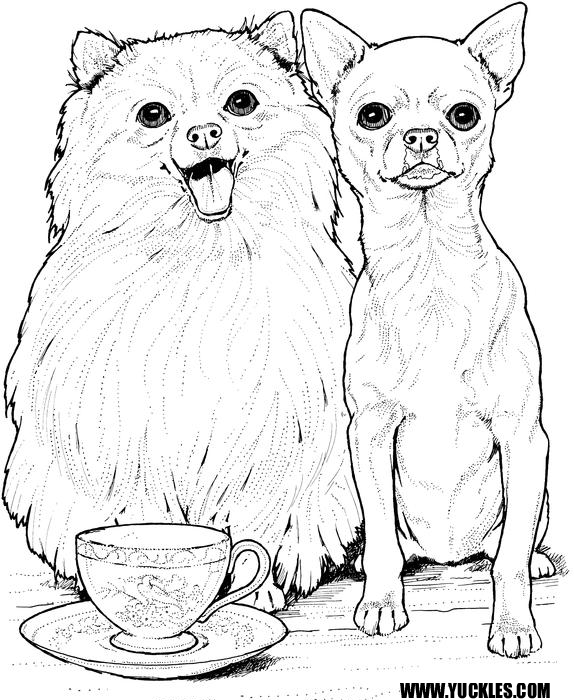Dogs Coloring Page Difficult Adult