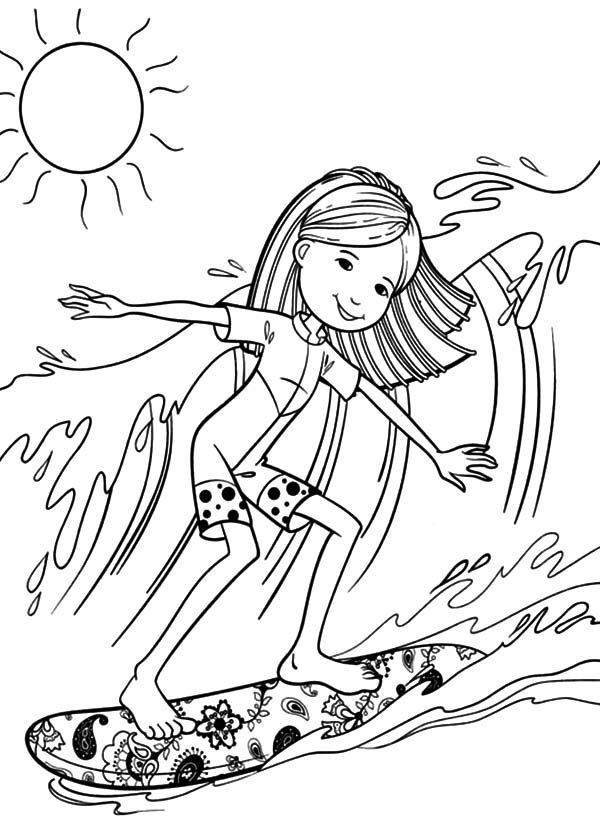 Surf Coloring Pages Black White Home