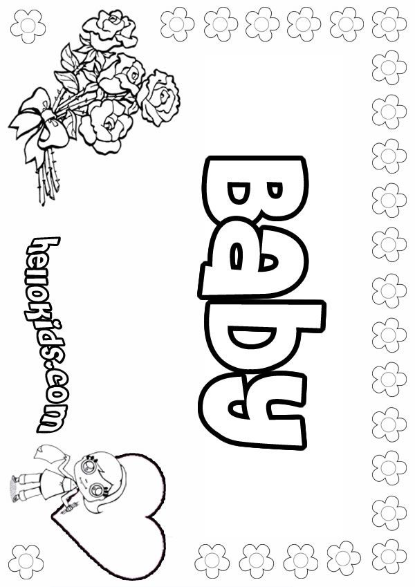 Baby Girl Shower Coloring Pages