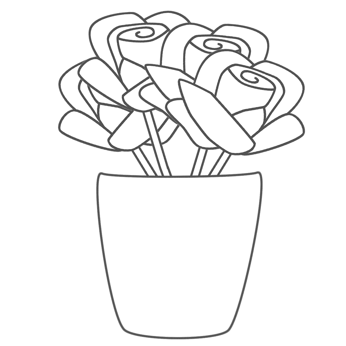 Flower Vase Coloring Page - Coloring Page