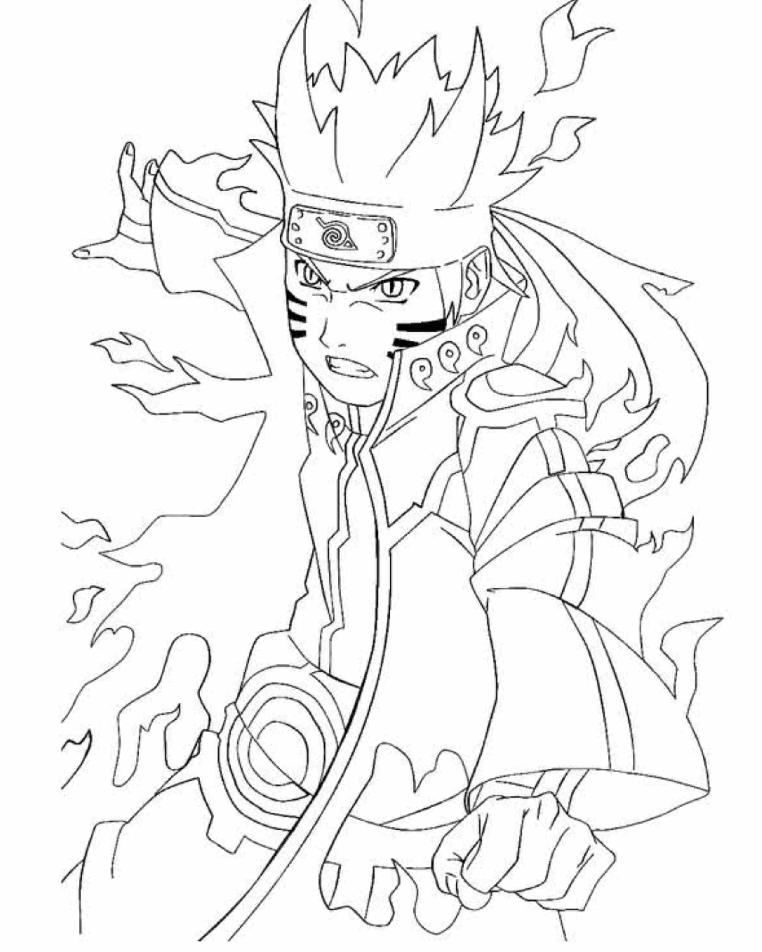 Naruto Uzumaki Coloring Pages