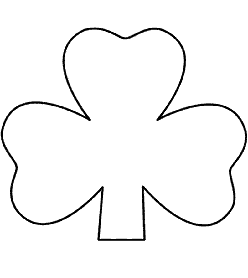 st patricks day shamrock coloring pages | St Patrick Day Shamrock Coloring Pages - Coloring Home