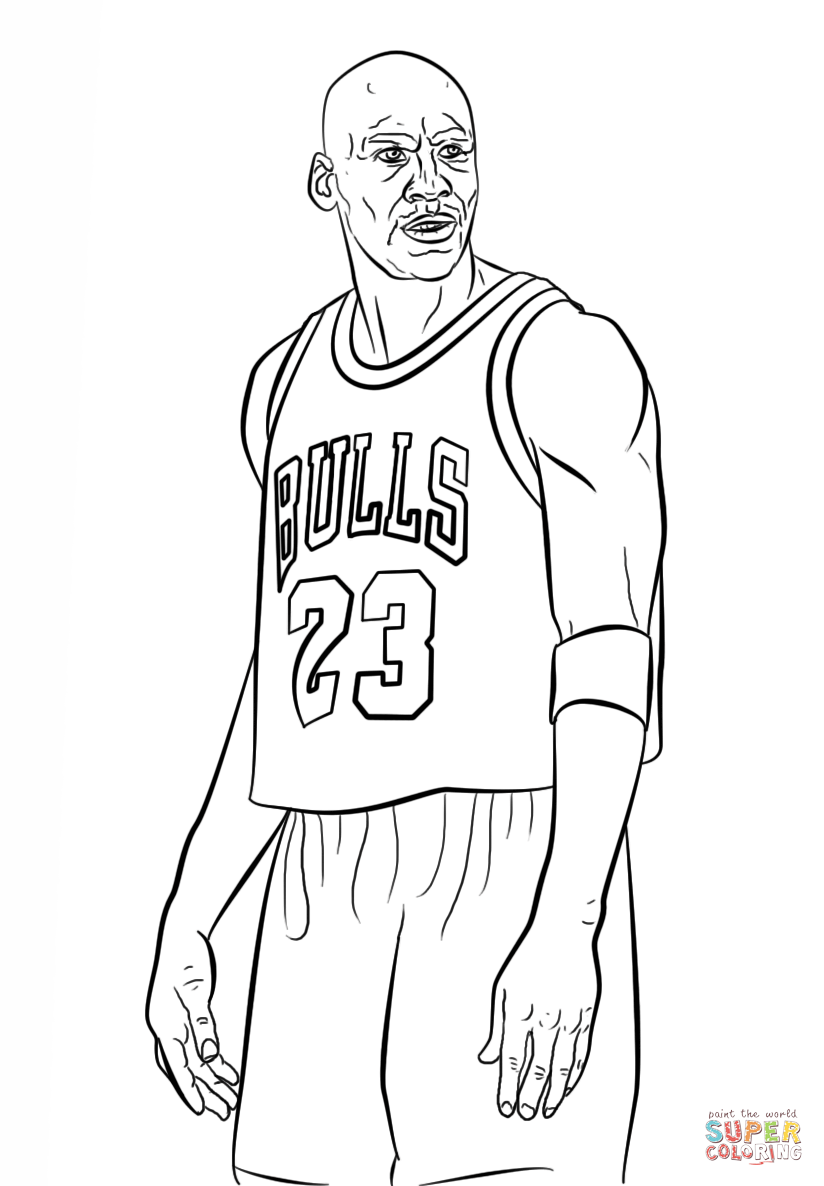 Uncategorized Basketball Player Coloring Page michael jordan coloring page free printable pages pages