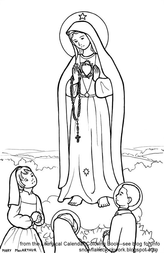 coloring page of Children of Fatima | Our Lady of Lourdes ...