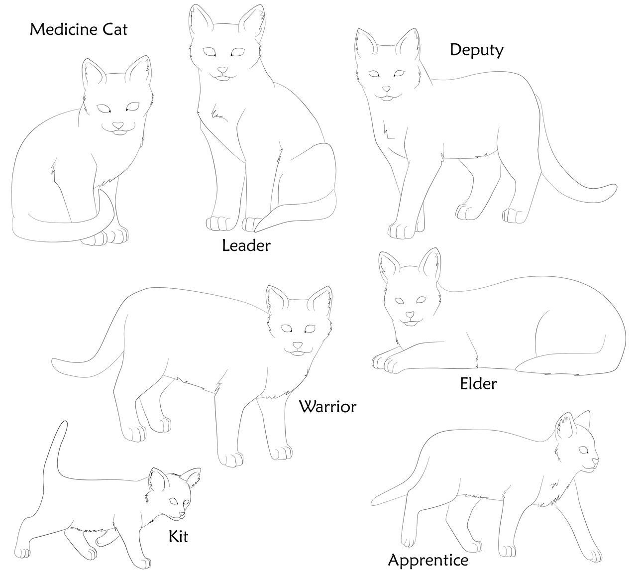 Coloring Pictures Of Warrior Cats - Coloring
