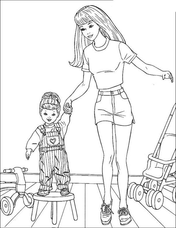 Barbie And Kelly Coloring Pages - Coloring Home