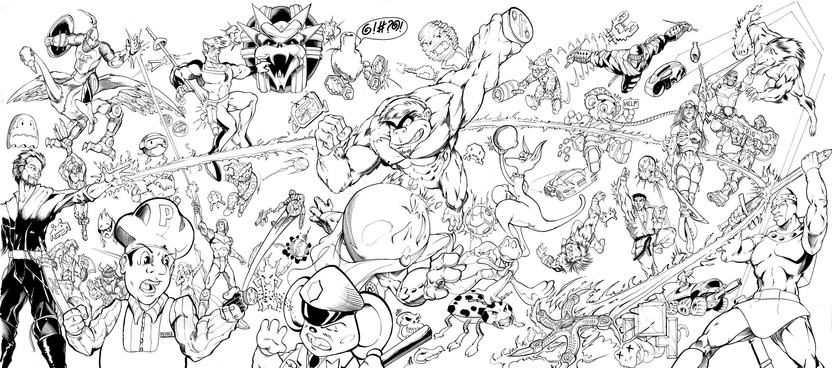 Samus Super Smash Bros Coloring Pages