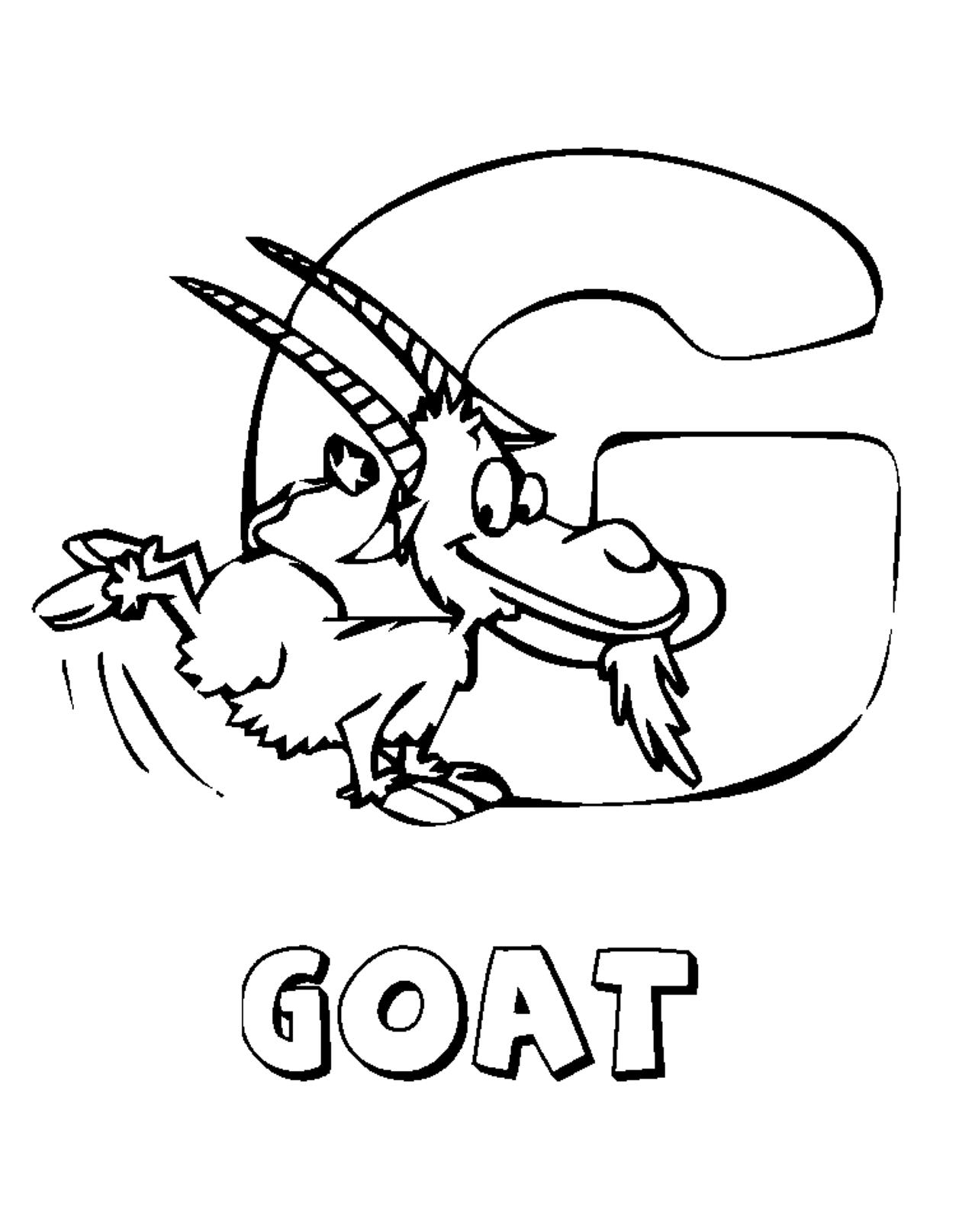 Coloring Pages Alphabet Animal Farm Goat - VoteForVerde.com ...