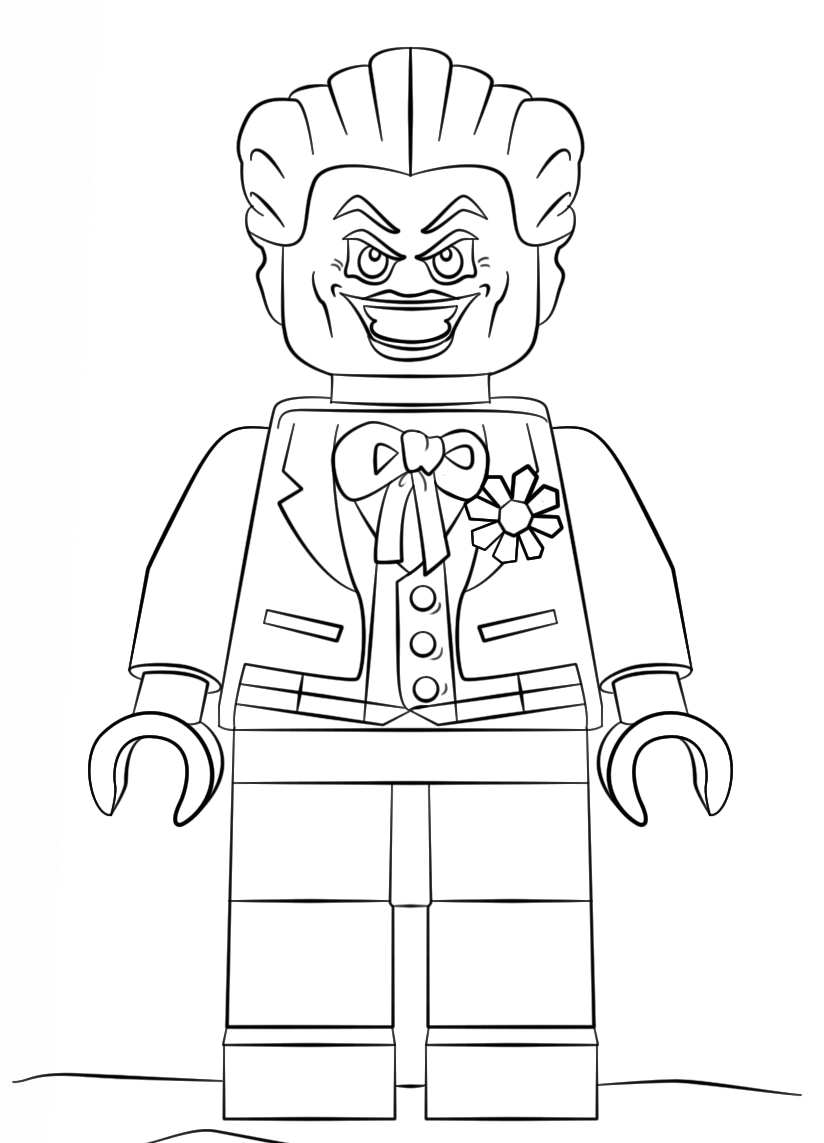 Coloring Pages : Joker Coloring Pages Lego Inspirational The ...