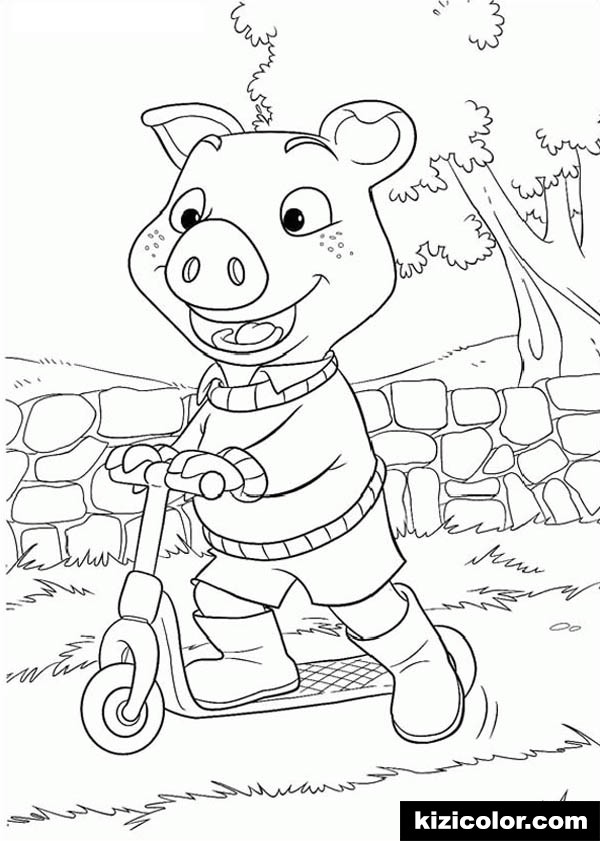 Scooter Coloring Pages - Coloring Home