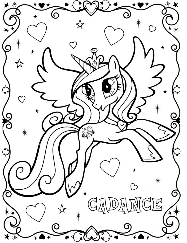 My Little Pony Coloring Pages Princess Cadence Coloring Home Pictures Of Princess Cadence Printable