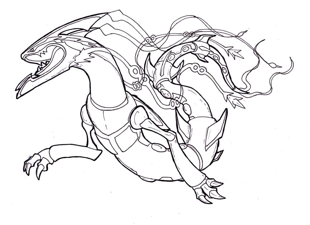 Pokemon Rayquaza Coloring Pages - Coloring Home