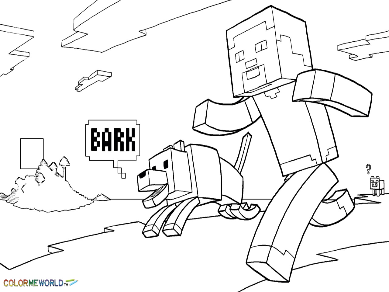 Coloring Pages Minecraft Steve Coloring Pages Printable
