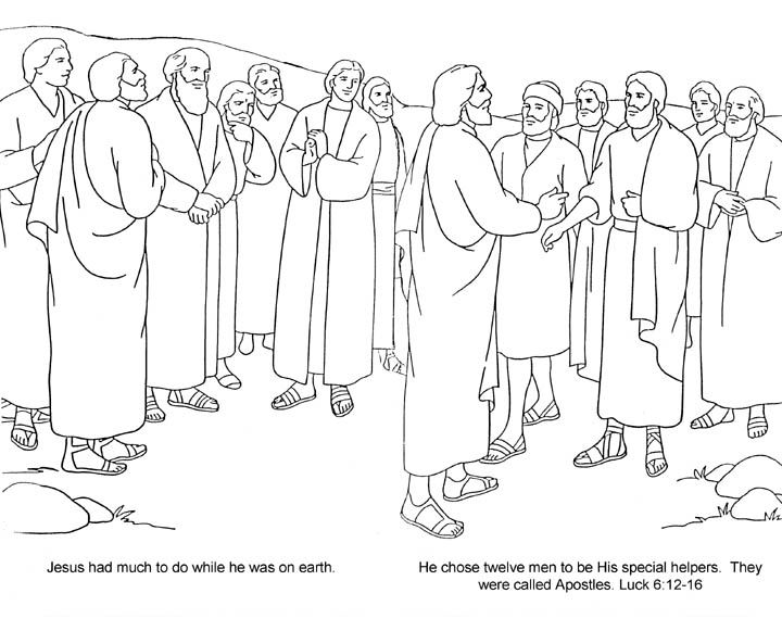 12 Disciples Coloring Page - Google Twit