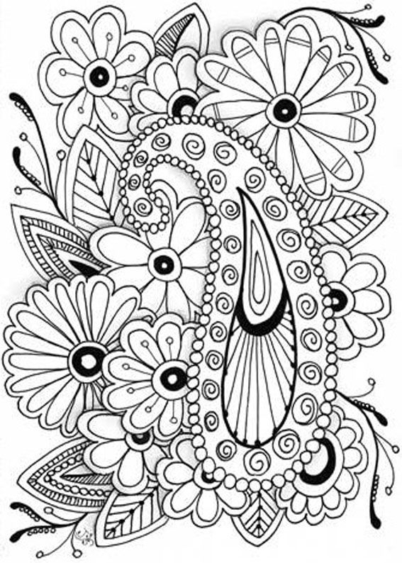 130 Flower Coloring Pages For Adults (FREE) | 794x567