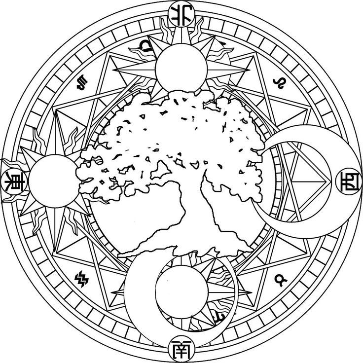 Moon And Stars Coloring Page
