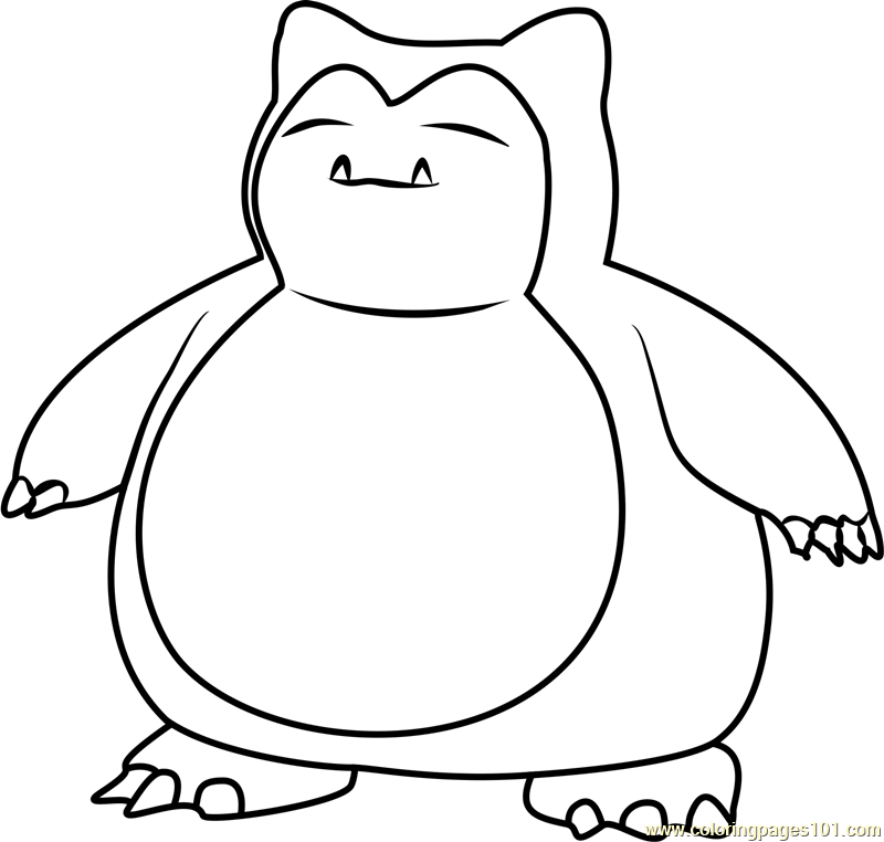 snorlax coloring pages coloring home