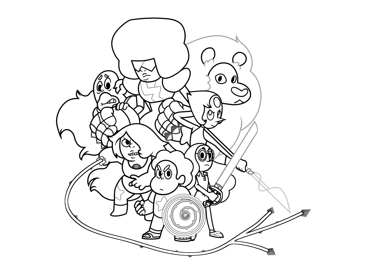 Steven Universe Coloring Pages | Printable Shelter