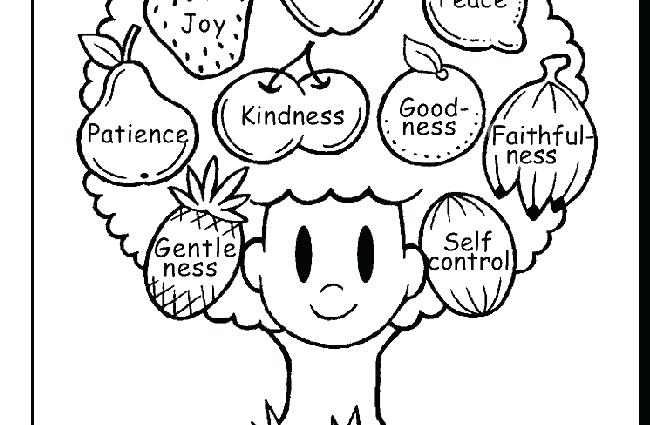 Fruit Of The Spirit Kindness Coloring Pages - Coloring Home