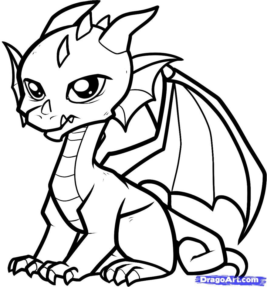 Baby Dragon Coloring And Cute Coloring Pages On Pinterest Coloring Home