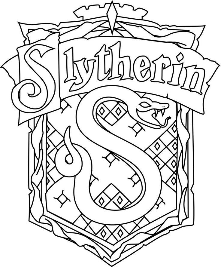 Hogwarts crest coloring page auromas com coloring home Slytherin Crest Stencil Slytherin Crest Color Hogwarts Crest Coloring Page