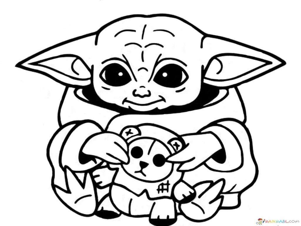 coloring page  coloring page raskrasil baby yoda pages