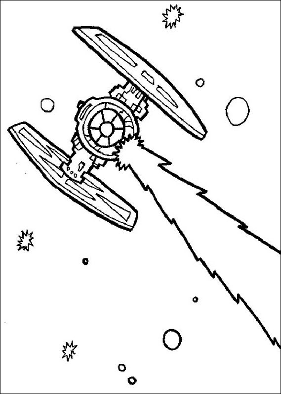 Star Fighter Aircraft-Quality Coloring Page | Star wars coloring sheet, Coloring  pages, Tie fighter