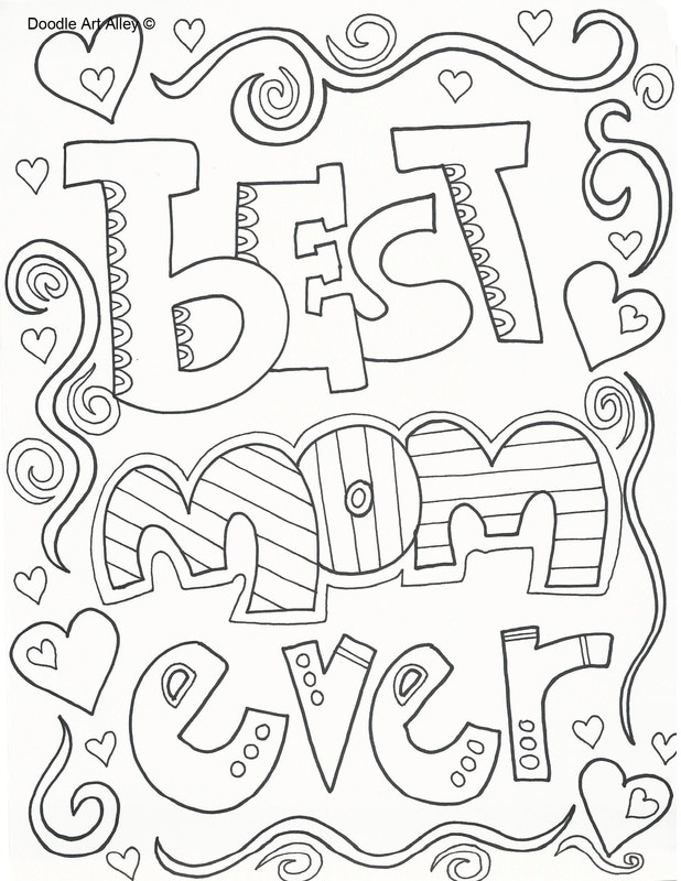 Coloring Pages | Best Mom Ever Coloring Pages