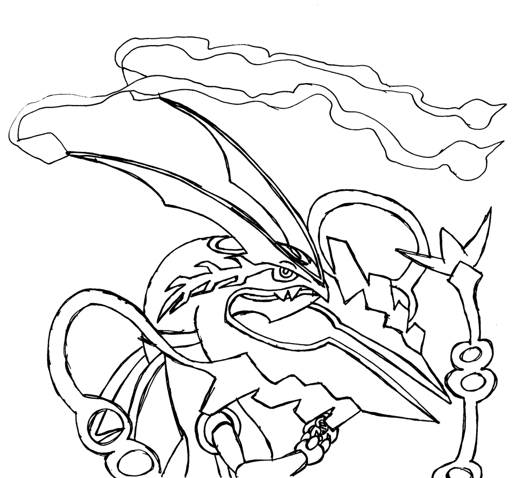 Pokemon coloring pages of mega lucario - 15 Pics Of Pokemon Mega Rayquaza Coloring Pages Mega Pokemon