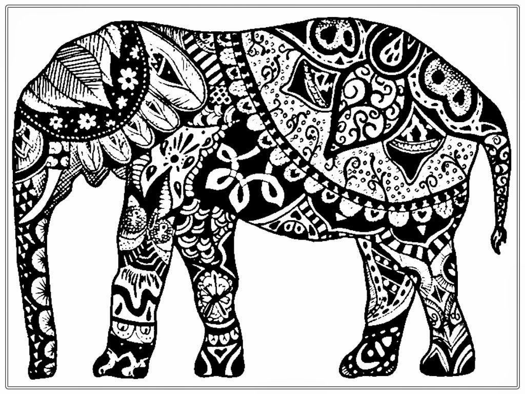 Realistic Elephant Coloring Pages Coloring Coloring Pages