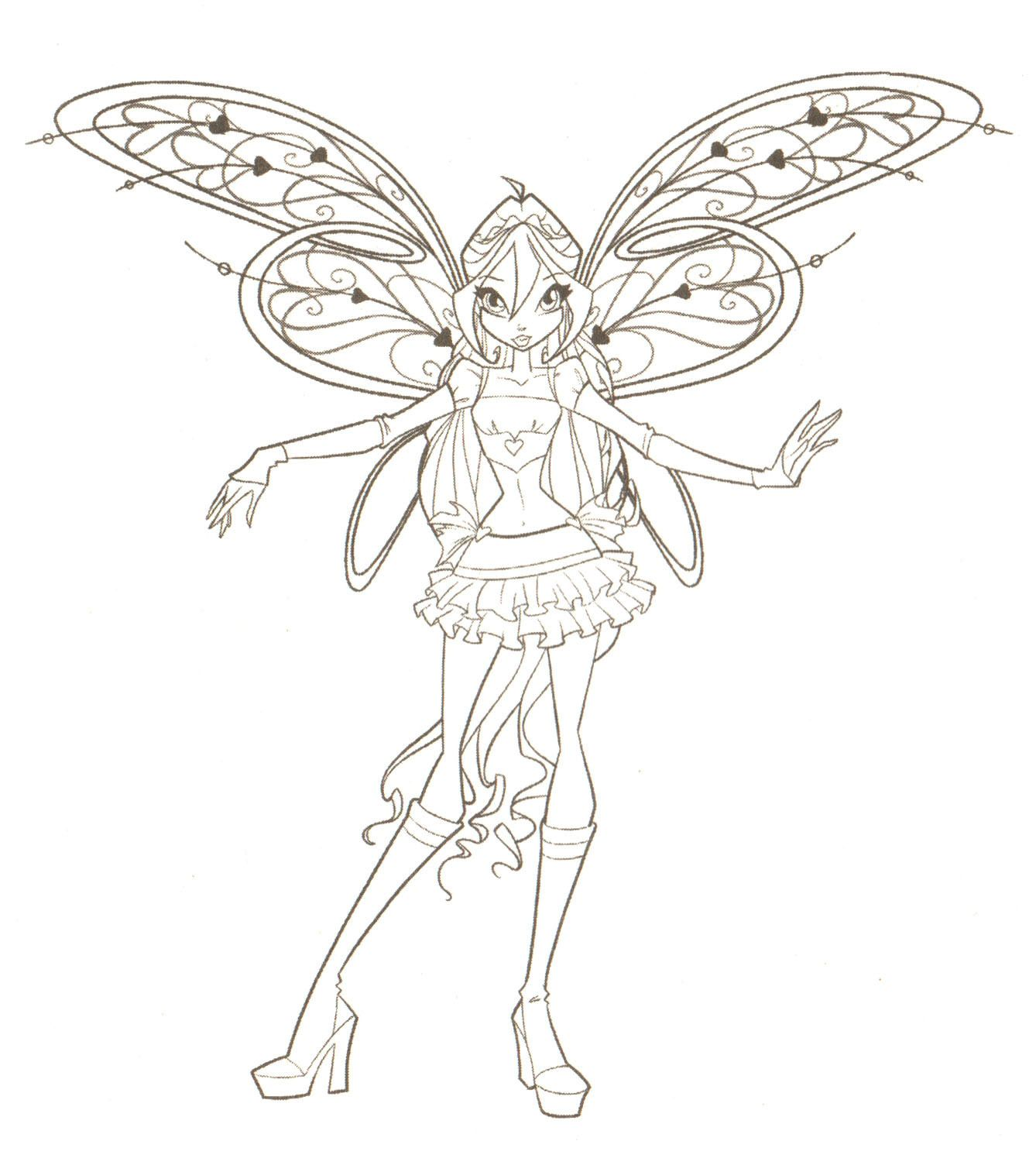 Winx Club Believix Coloring Pages Game High Quality High Quality Coloring Pages