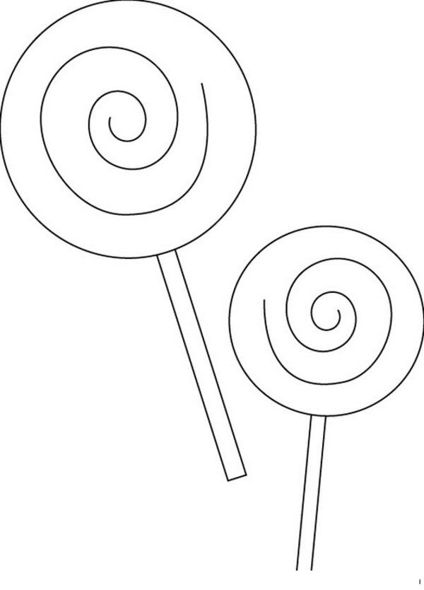 lollipop coloring pages coloring home