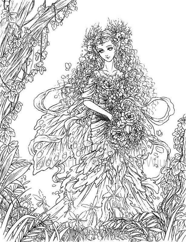 Fantasy art coloring pages for adults coloring home for Mythical coloring pages for adults