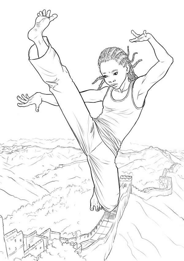 Karate Kid The Movie Coloring Page