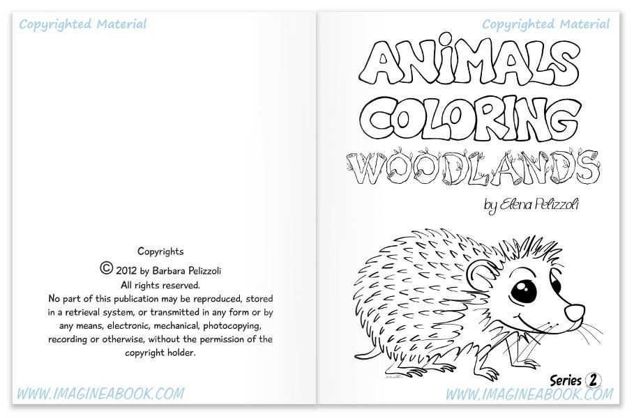 Animals Coloring - Woodlands - Series 2 - IMAGINE A BOOK